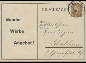 410 Ebert Drucksache Seifenwerbung, Augsburg 27.6.30 nach Schwebheim