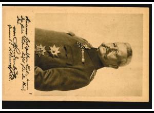 Paul von Hindenburg auf AK Ludendorff-Spende, ungebraucht **