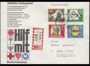 295-298 Wofa Märchen Der Froschkönig auf Schmuck-R-FDC ESSt Berlin 5.10.1966
