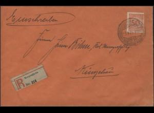 342P 50 Pf EF R-Brief SSt Mergentheim 1.4.25 nach Künzelsau
