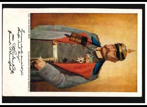 AK Hindenburg Wohlfahrtskarte Verein für Sanitätshunde, um 1914, ungebraucht