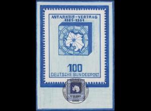 1117 Antarktis-Vertrag: Künstler-Maximumkarte ESSt Bonn 12.11.1981