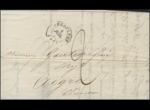 Frankreich Vorphilatelie Faltbrief Angoulême 1.7.1841 nach Aigre 3.7.1841