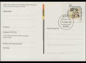 Postfach-Karte PFK 9 100 Pf/0,51 Euro Fuchs: offenes Postfach, Bonn 6.6.2002