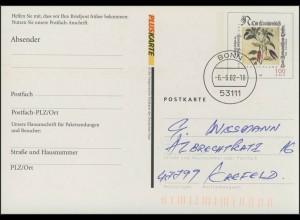 Postfach-Karte PFK 9 100 Pf/0,51 - Fuchs: Geöffnetes Postfach, Bonn 6.6.2002