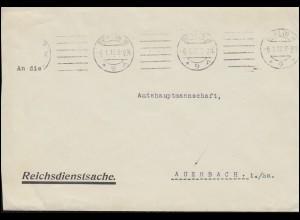 Reichsdienstsache Reichskartoffelstelle BERLIN 6.1.1917 Brief nach Auerbach/Sa.