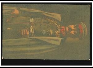 AK Hindenburg in Uniform mit Mantel, um 1914, ungebraucht **