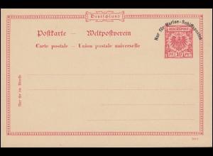 DEUTSCHE MARINE-SCHIFFSPOST Postkarte P 1, ungebraucht **