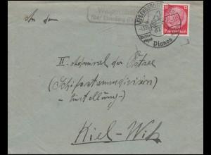 Landpost-Stempel Walpernhain über Eisenberg, Brief SSt EISENBERG Pianos 4.3.37