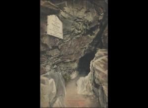 Ansichtskarte Prinzenhöhle Prinz Ernst von Sachsen, Stein/Erzgebirge 1913