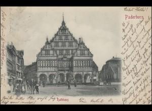 Ansichtskarte Paderborn - Rathaus, 29.10.99 nach Gelsenkirchen 20.10.1899