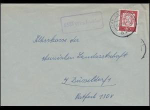 Landpost-Stempel Wirschweiler Brief IDAR-OBERSTEIN 15.10.1963