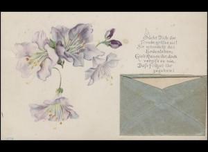Bayern Orts-Ansichtskarte mit Liebesgedicht MÜNCHEN 8.7.01 und Briefträger-O 69
