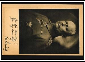 Erich Friedrich Wilhelm Ludendorff auf AK Ludendorff-Spende, ungebraucht **
