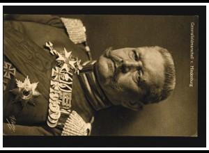 Wohlfahrts-Karte Veteranen e.V. Generalfeldmarschall von Hindenburg, ungebraucht