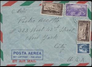 Italien 776 ERP Marshallplan MiF auf Luftpost-Brief TORINO 15.7.49 in die USA