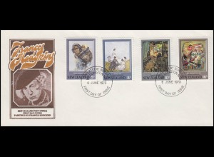 Neuseeland: Frances Hodgkins - Malerin, 4 Werte, Schmuck-FDC Wellington 6.6.1973