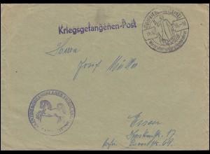 Kriegsgefangenenpost Bf. Grenzdurchgangslager Friedland SSt Heimkehrer 14.12.55