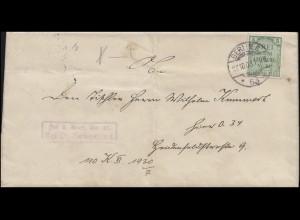 Dienst Frei laut Ablösung 21 Orts-Brief mit D 3 EF Amtsgericht BERLIN 27.10.1903