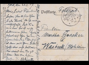 DEUTSCHE MARINE-SCHIFFSPOST No 139 - 27.3.1917 SMS Prinzregent Luipold Feldpost
