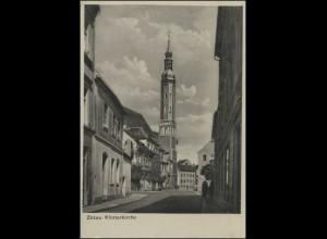 Ansichtskarte Zittau: Klosterkirche, Zittau 5.2.1954