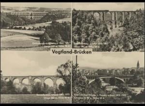 Ansichtskarte Vogtland-Brücken: 4 Abbildungen, Plauen 30.11.1966