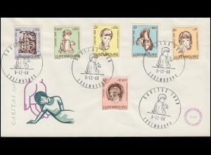 Luxemburg 779-784 Caritas Kinder mit Handicap, Satz Schmuck-FDC 7.12.1970