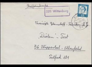 Landpost-Stempel Wittenburg Briefdrucksache ELZE 24.4.1963 nach Wuppertal