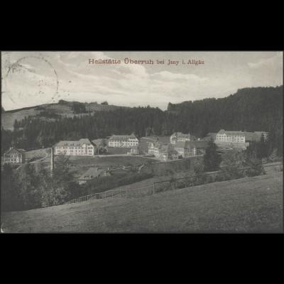 Ansichtskarte Heilstätte Überruh bei Isny/Allgäu, Grossholzleute 29.9.19