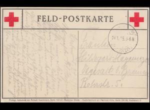 Feldpostkarte Rotes Kreuz 24.1.15 Weihnachtsgabe auf Befehl S.M. des Kaisers