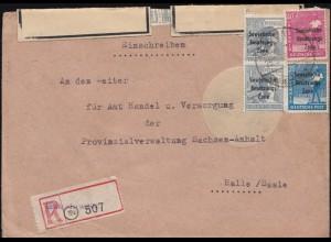 205 Neumann MeF auf Luftpost-Einschreiben BERLIN 24.1.1966 nach Mönchengladbach