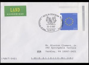 1791 EUROPA Europa-Fahne, EF Brief SSt Berlin 40 Jahre Römische Verträge 25.3.97