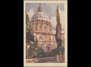 Vatikan: Ansichtskarte Giardini Vaticani / Vatikanische Gärten, 30.3.1935