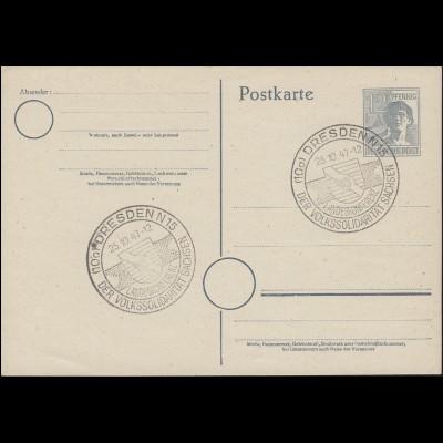 SSt DRESDEN - Landeskonferenz Volkssolidarität Sachsen 25.10.1947 auf P 962