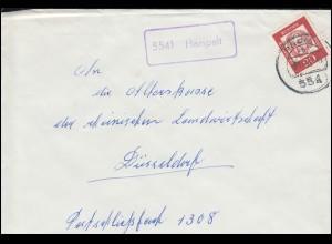 Landpost-Stempel Harspelt Brief PRÜM 13.11.1963 nach Düsseldorf