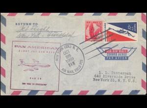 Erstflug PAN AMERIACAN New York - Düssledorf ab NEW YORK (IDL) N.Y. 26.10.1959