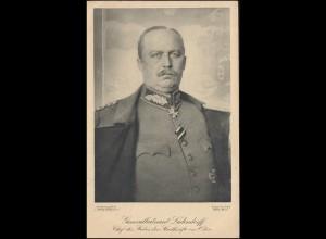 Wofa-Postkarte Generalleutnant Ludendorff als Feldpostkarte VAREL 14.2.16