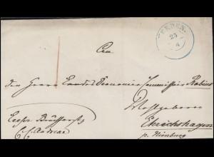Hannover Dienstpost Briefhülle Zweikreisstempel VERDEN 25.4. nach Ehrichshagen