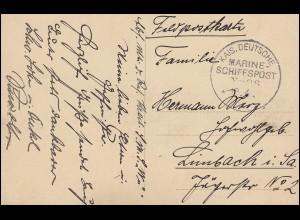 DEUTSCHE MARINE-SCHIFFSPOST No 96 - 12.4. SMS Württemberg, Marine-AK Minenleger