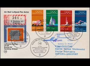 Erstflug Bordstempel AM 42 US AIR MAIL TEXAS CORPUS CHRISTI 6.4.39 n. Jenkintown