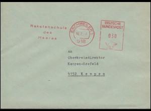 Bundeswehr Absenderfreistempel Raketenschule des Heeres ESCHWEILER 10.2.67