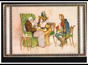 Künstler-AK Fischer-Koystrand: Aus der guten, alten Zeit TETSCHEN a.d. ELBE 1916