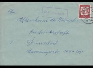 Landpost-Stempel Lascheid Brief PRÜM 15.11.1963 nach Düsseldorf