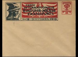 PU Nationalversammlung 10 Pf Erste Einfuhr-Messe Frankfurt Oktober 1919, **