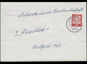 Landpost-Stempel Großkampen Brief PRÜM 16.11.1963 nach Düsseldorf