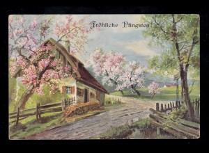 Schweiz Postkarte P 27 Ziffer mit DV I 96 von WEGGIS 5.5.1897 nach Berlin 7.5.