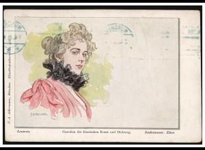 Künstler-AK Doubek: Leonore, Werbestempel Deutsches Turnfest 1923 MÜNCHEN 7.6.23