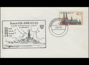 Marineschiffspost 02: Fregatte Lübeck im Mittelmeer, 25.2.88