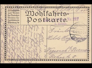 Wofa-PK Hindenburg als Feldpostkarte Reserve-Infanterie-Regiment 212 - 10.12.15