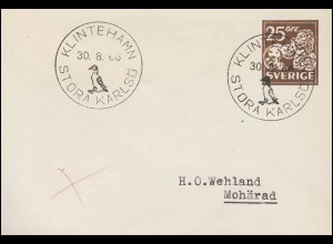 AFS Oberbürgermeister Halberstadt 18.8.34 BS Ortspolizeibehörde auf R-Brief